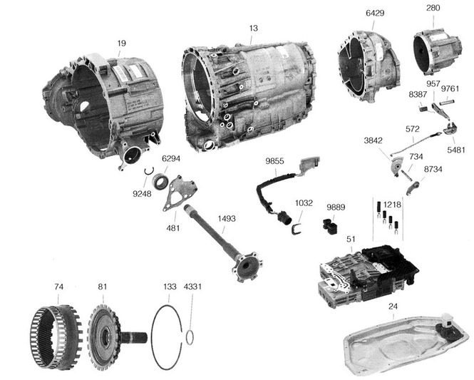 АКПП Ауди (Audi) ZF6HP28